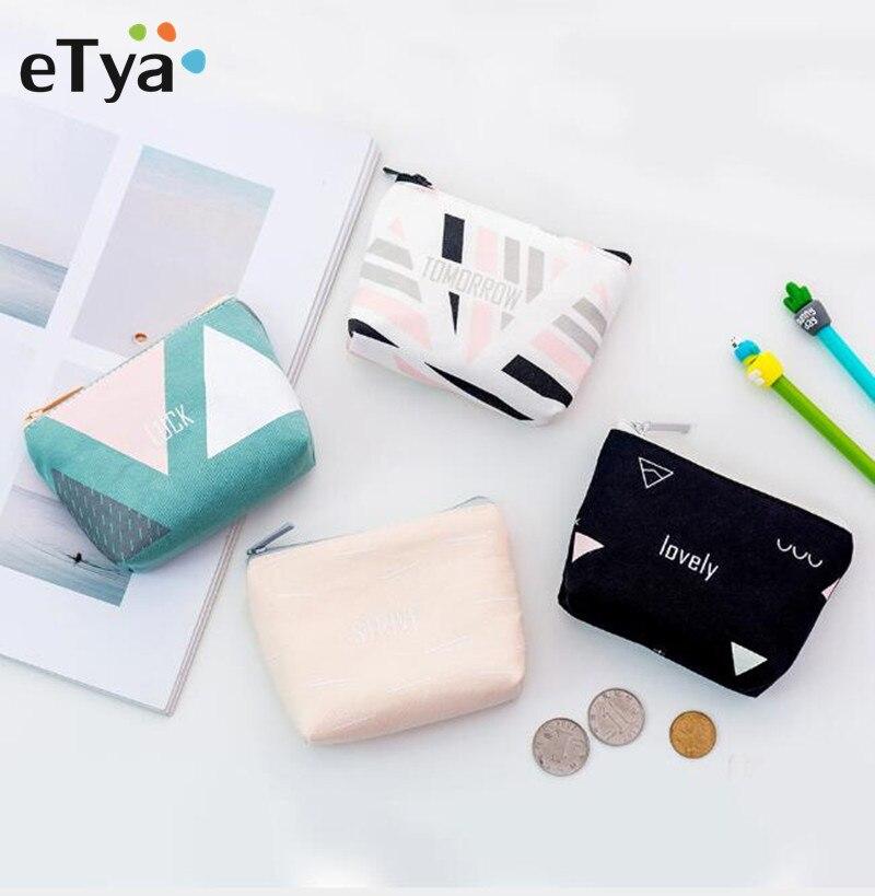 ETya Cute Small Coin Wallet Canvas Zipper Coin Bag Purses Female Women Kids Girls Coin Money Change Hand PurseS Coin Pouch