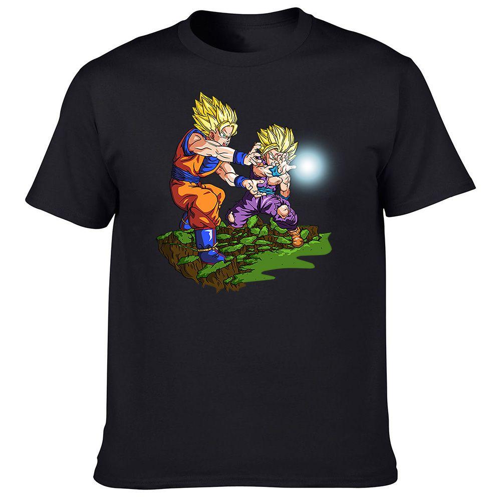 Design shirt japan - Kamekameha Goku And Gohan T Shirt Japan Anime Design T Shirt Men S Print Top Tee Cool Fashion Newborn Novelty Style Tshirt In T Shirts From Men S Clothing