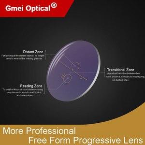 Image 3 - 1.56 Super Tough Digital Free Form Progressive No Line Multi Focal Prescription Customized Optical Lenses With AR Coating  2 Pcs