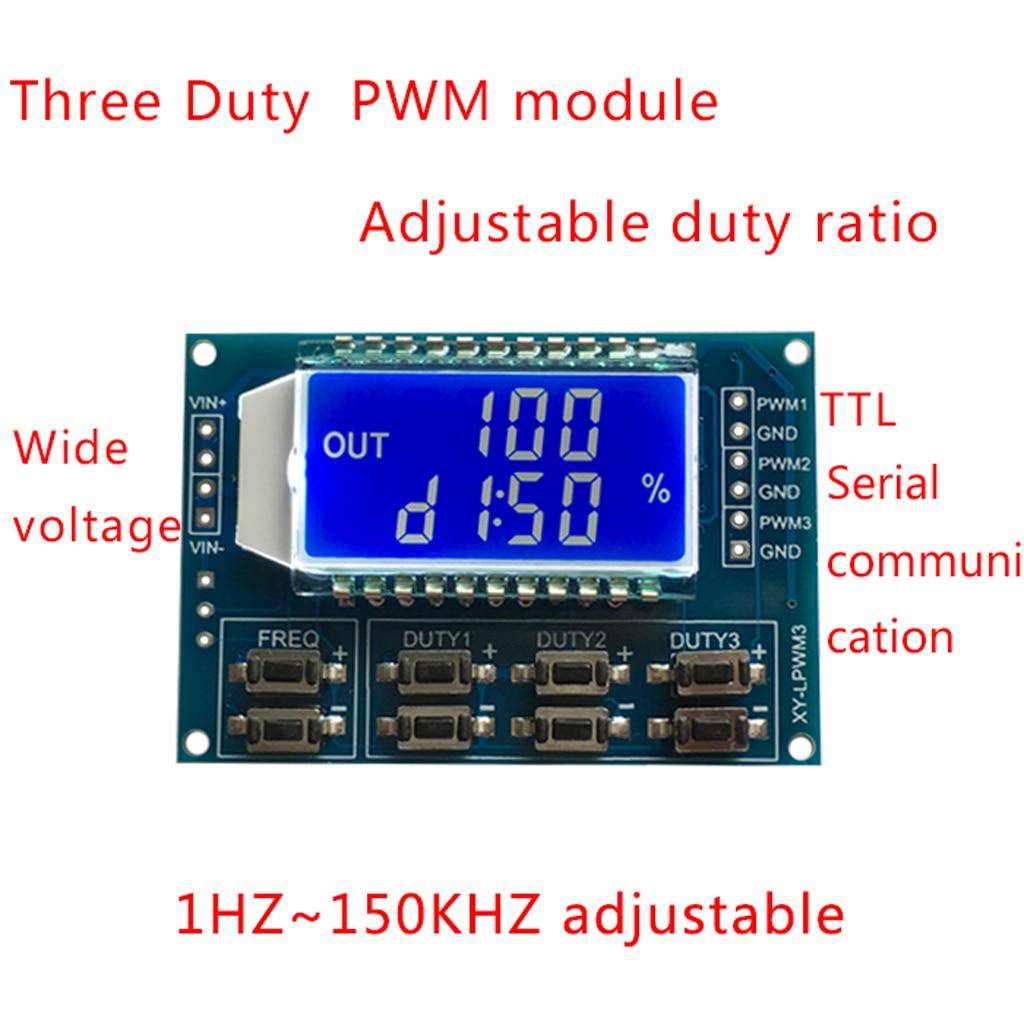 New Signal Generator Pwm Pulse Frequency Duty Cycle Adjustable Adjustabledutycycle Squarewave Oscillator Circuit Diagram Module Lcd Display