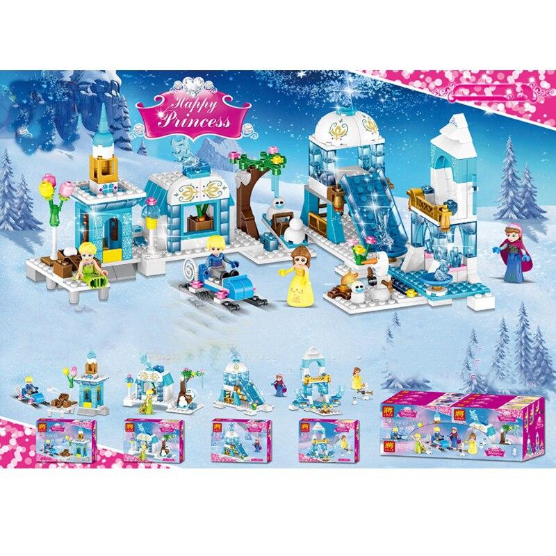 Firends neige princesse château parc modèle blocs de construction brique compatible Sermoido jouets éducatifs pour enfants cadeau