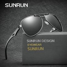 SUNRUN Classic Pilot Polarized Sunglasses Aluminium Magnesium Leg Men Sun Glasses Brand Designer Driving Glasses 80201