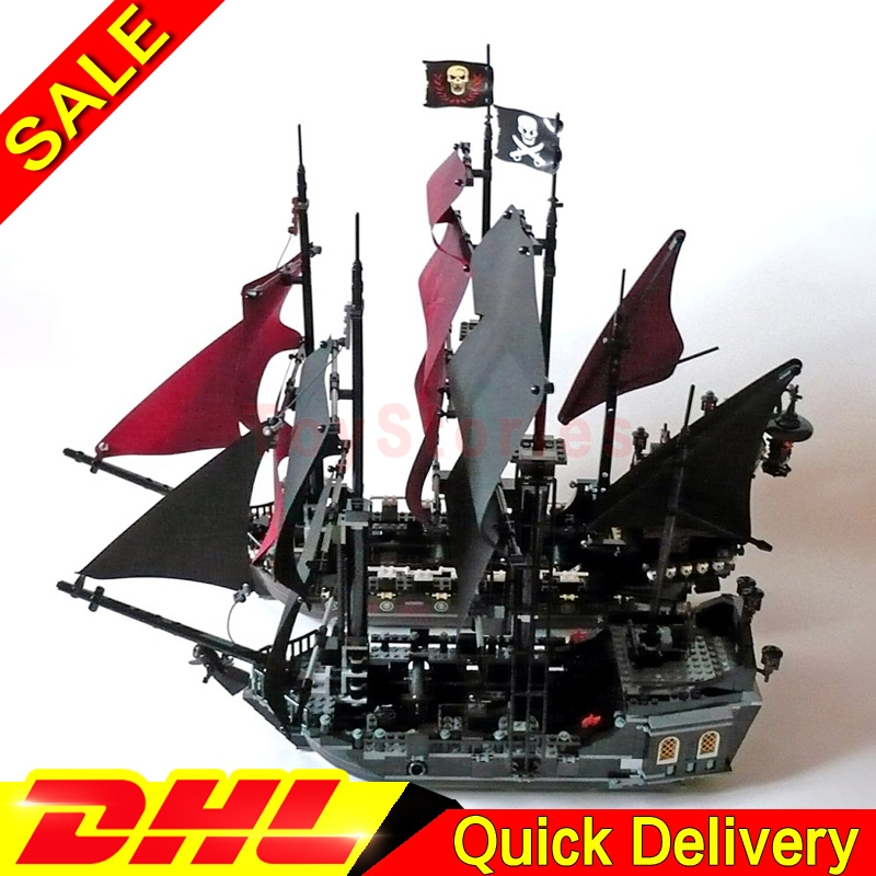 LEPIN Pirates 16006 Black Pearl +16009 Caribbean Queen Annes Reveage Model Building Kits Blocks Bricks legoings Toys 4184 4195