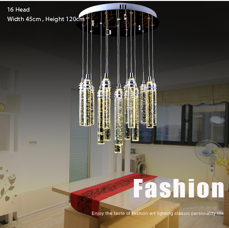 Bubbles Crystal Pendant Light Modern LED Pendant Light Lighting Bar Salon Pendant Lighting