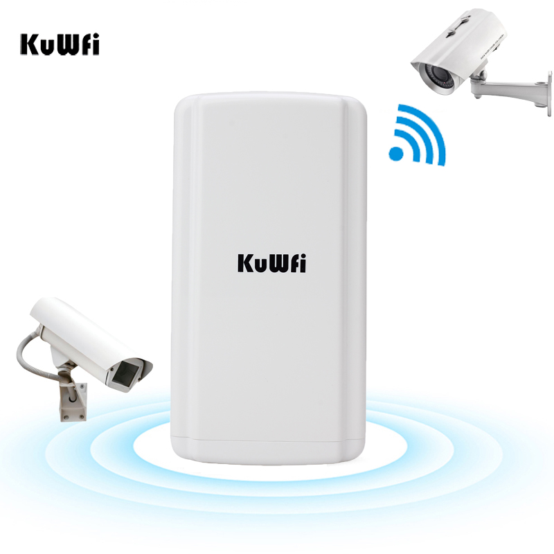 KuWFi Wireless Outdoor CPE Router Impermeabile AP 300 Mbps Router Wifi Extender Ripetitore Ponte con 11dBi Antenna Funzione WDS