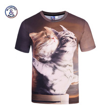 Mr.1991INC New Tops Designed Men/Women 3d T-shirt Print Titanic Cats Lovers Tees Shirts Summer Cool T shirt