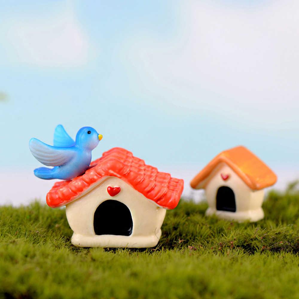 تمثال مصغر جميل على شكل طيور كرتونية من الراتنج يمكنك صنعه بنفسك ديكور منزلي للحدائق