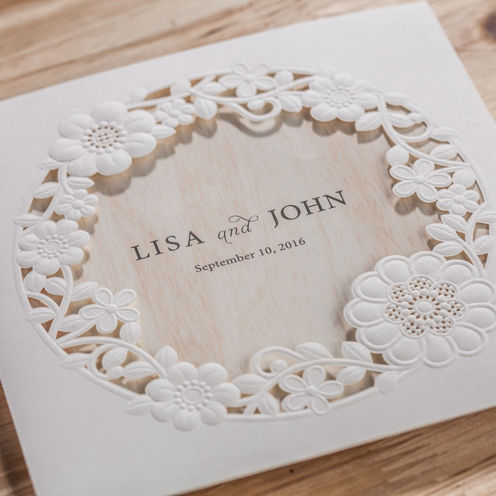 cw5175 white royal wedding invitation card/ greeting card with laser ...