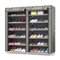 12 Door Shoe Rack Living Room Furniture Portable Simple Lockers Closet Non Woven Ikea Shoe Cabinet