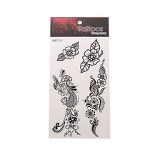 Exquisite Leaf Pattern Hand Waterproof Tattoo Sticker Plant Art Graphic Tattoo Sticker Unisex Body Art Sticker цена