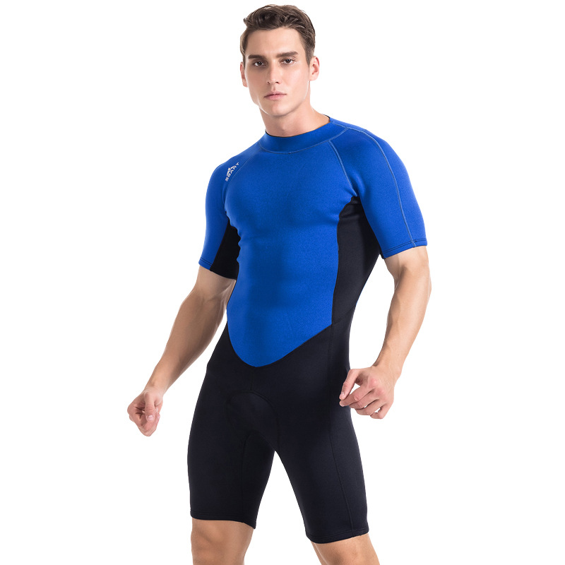 SBART  2MM Neoprene Short Sleeve One Pieces Wetsuit Men& Women UPF50 winter Warm Anti-Jellyfish Snorkeling Scuba Diving Suit sbart upf50 rashguard 2 bodyboard 1006