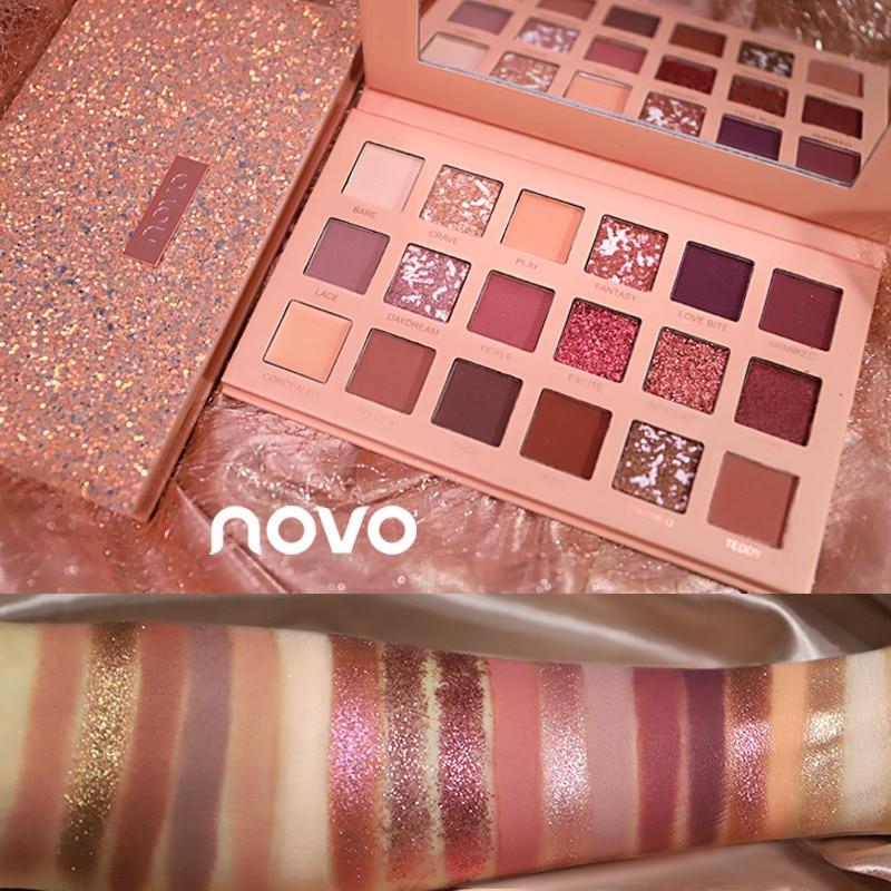 NOVO new Fashion eyeshadow palette 12Colors Matte
