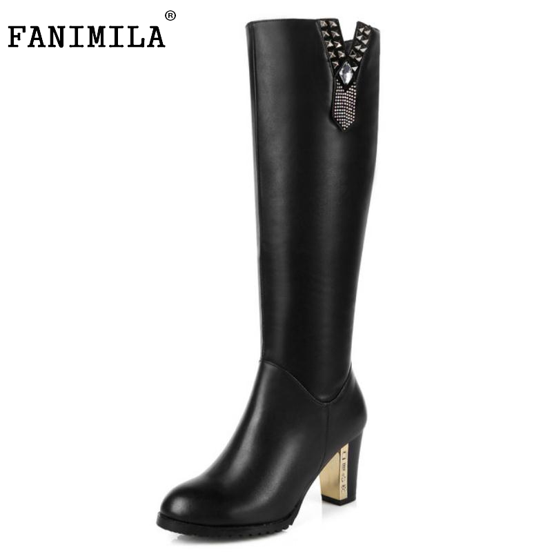 size 31-45 women real genuine leather high heel over knee boots winter warm long boot riding quality sexy footwear shoes R8297 size 30 45 women real genuine leather flat over knee boots long boot warm winter botas mujer brand footwear heels shoes r7761