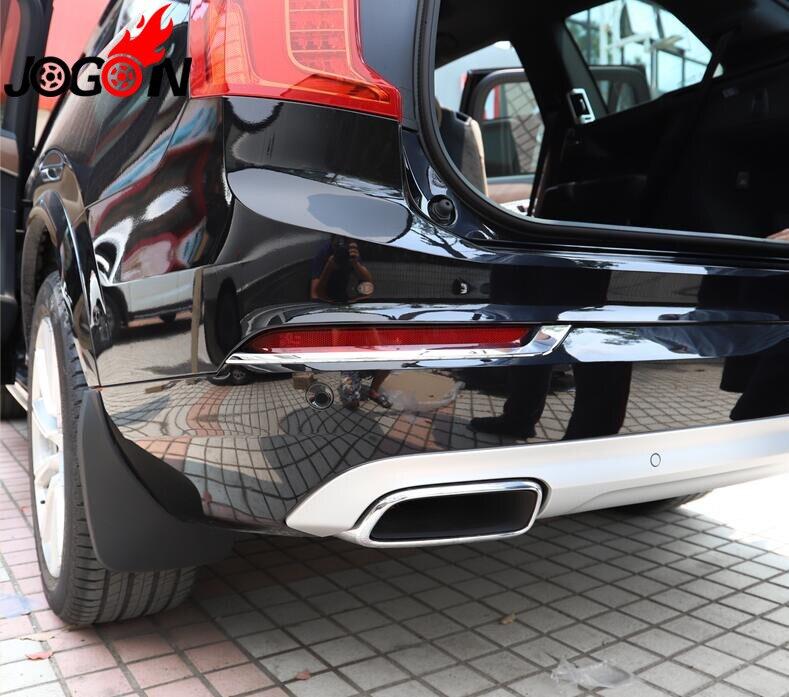 Car Rear Fog Light Lamp Stripe Cover For Volvo XC90 2016 2017 2018 ABS Chrome