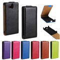 Stylish Retro Style Crazy Horse Leather Flip Case For Sony Xperia U ST25i Smart Cell Phone Cover