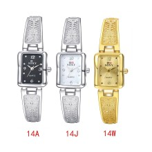 2016 new fashion Women's Square Face Automatic Electric Wrist Watch Fashion Sport Metal Casual Rectangle dial montre femme