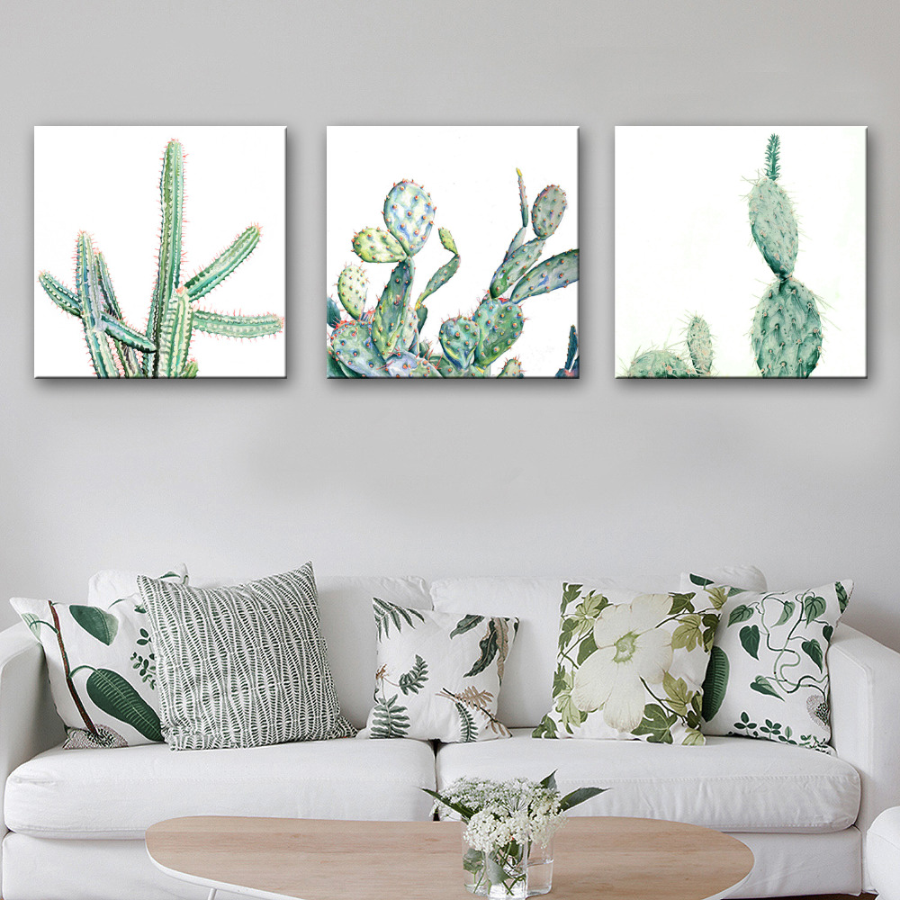 Hd Oil Painting Cactus Decoration Painting Home Decor On Canvas Modern Wall Art Canvas Prints Poster