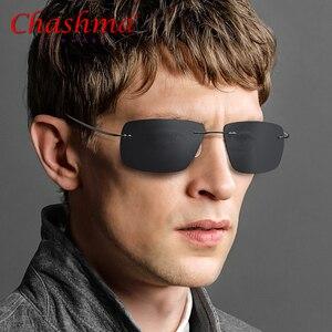 Image 3 - Summer Transition Sunglasses Titanium Brand Designer Ultralight Male Light Frameless Aviation Photochromism Sun Glasses Frames