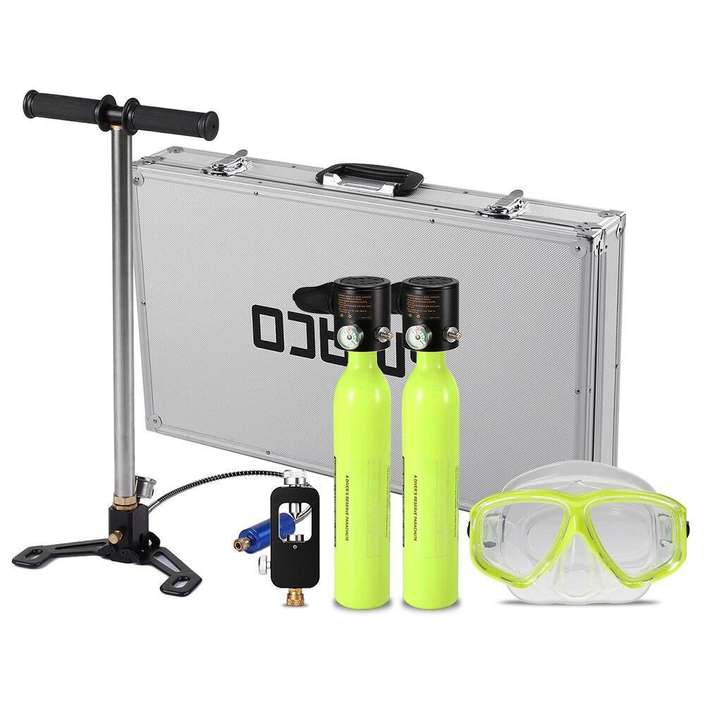 0.5L équipement de plongée plongée réservoir d'oxygène adaptateur de recharge de plongée haute pression pompe à Air masque de plongée sous-marine avec boîtier en alliage