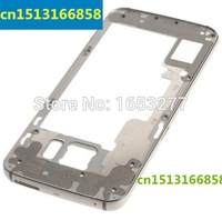 DHL/EMS 10 pieces/lot For OEM Middle Plate Frame Replacement for Samsung Galaxy S6 Edge SM G925F Grey/gold