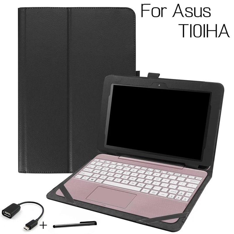 Top Quality Stand Smart PU Leather Cover for Asus Transformer Book T101HA 10.1 inch Tablet Funda Shell Case+Two Gifts планшет asus transformer book t100ha