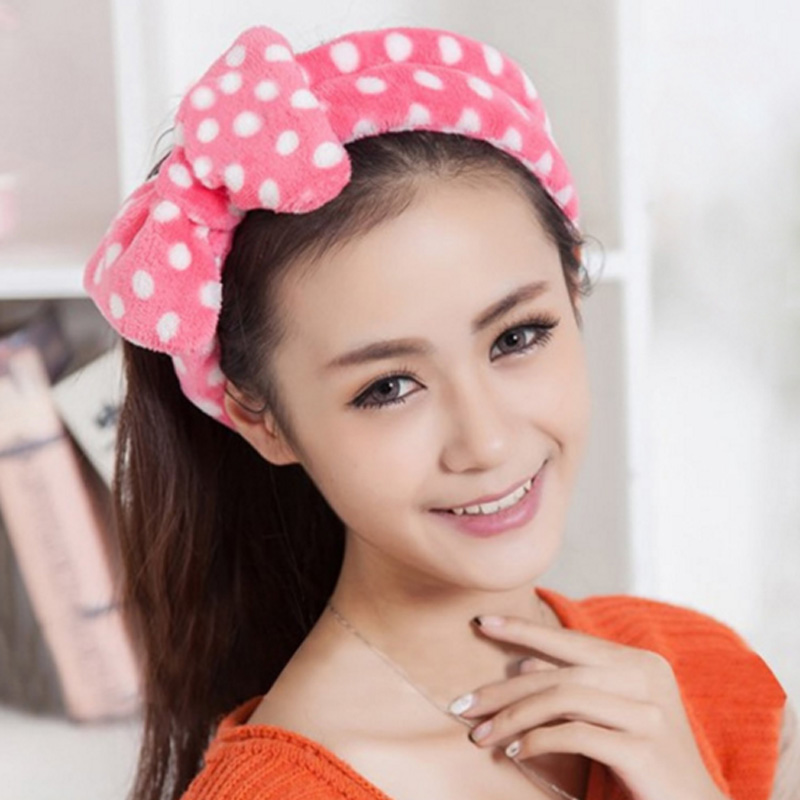 Face Washing Hairbands Cloth Turban Big Bows Headbands Women e Girls SPA Make up Fascia per capelli Wash Face