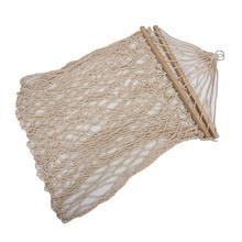 מכירה לוהטת לבן כותנה חבל נדנדה ערסל תלוי על מרפסת או על החוף