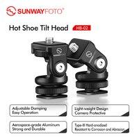 Sunwayfoto HB 02 Mini Tripod Hot Shoe Panoramic Video Mini Ball Head Ballhead Panorama for Head DLSR Camera Hotshoe Adapter Moun