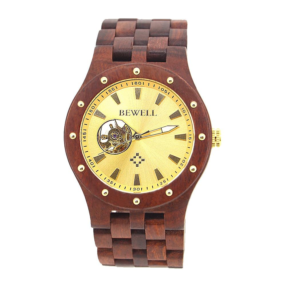 BEWELL Automatyczne zegarki mechaniczne Najlepsze marki Luksusowe - Męskie zegarki - Zdjęcie 2