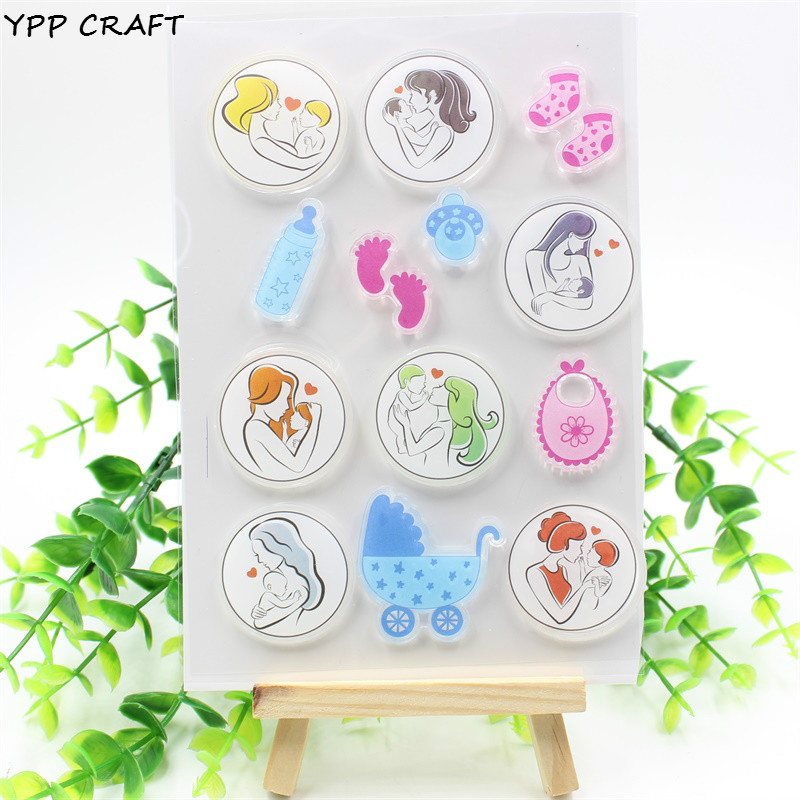 YPP CRAFT Baby Transparent Clear Silicone Stamps for DIY Scrapbooking Planner/Card Making/Kids Crafts Fun Decoration Supplies