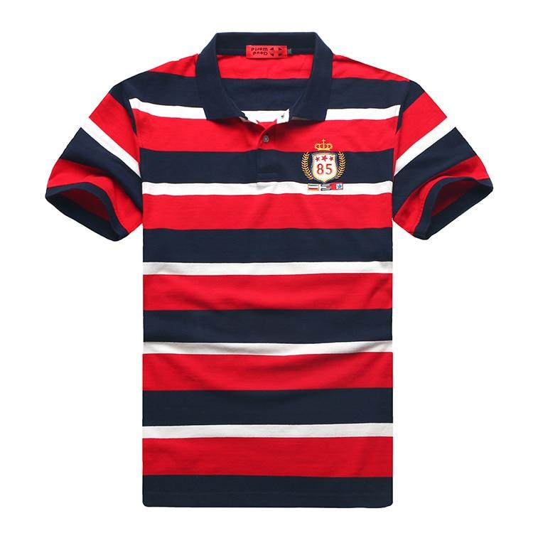Plus Size 5XL 6XL 7XL 8XL Bust 155cm Brand Striped   Polo   Shirt Men Cotton Short Embroidery Brand   Polo   Men Big Size XXL XXXL 4XL