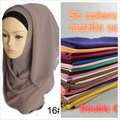 New Arrival plain bubble chiffon printe solid color shawls headband popular hijab summer muslim scarves/scarf 10pcs/lot