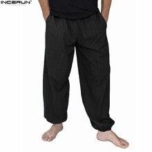 ce28191e090 Hot Sale 2018 Autumn Summer Plus Size Hip Hop Harem Pants Men Solid Casual  Loose Trousers