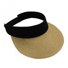 Новые соломенные солнцезащитные козырьки, шляпы женские с большими полями, складная Кепка с широкими полями, пустой верх, Пляжная соломенная защита, солнцезащитные шляпы сомбреро