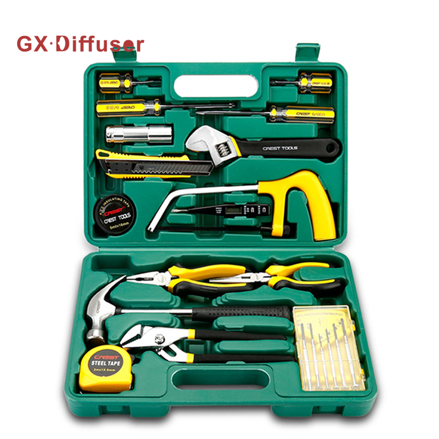 GX Diffuser Home Tool Set Repair Tools Household Tool Kits Ratchet Wrench Sockets set Precision Screwdriver Bits Set Hex Key pro skit 8pk 02730 in 1 sae6150 metric inch combination hex key wrench set black