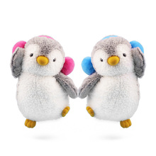 1pcs 22/35cm Kawaii couple penguin plush toys soft stuffed animals dolls lovely penguins with Earmuffs 2 colors girls Gifts