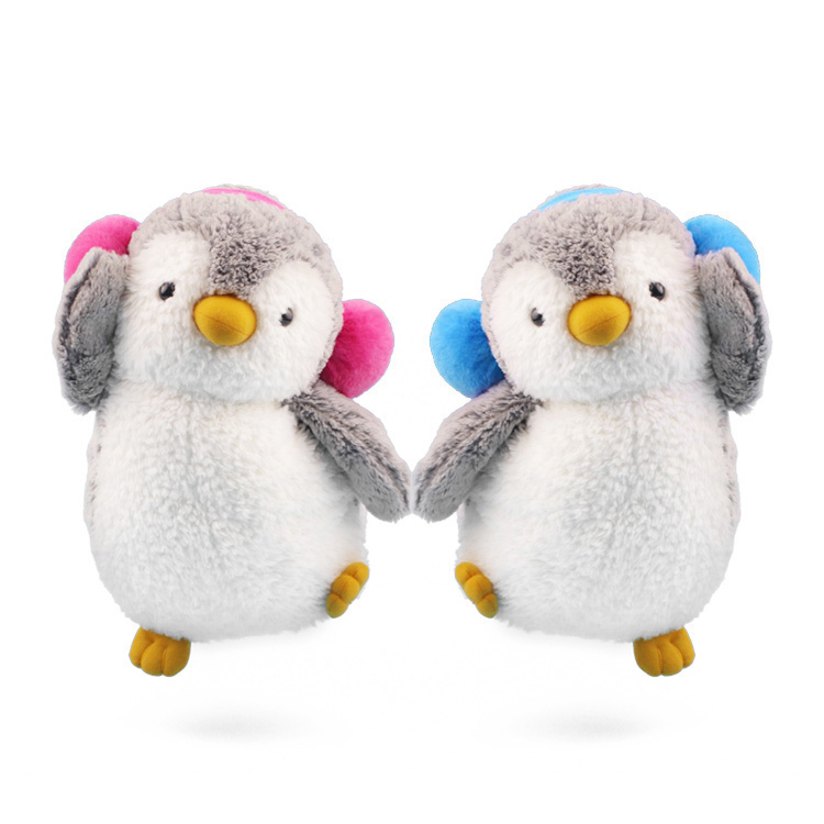 1pcs 22/35cm Kawaii couple penguin plush toys soft stuffed animals dolls lovely penguins with Earmuffs 2 colors girls Gifts penguin ice breaking save the penguin great family toys gifts desktop game fun game who make the penguin fall off lose this game