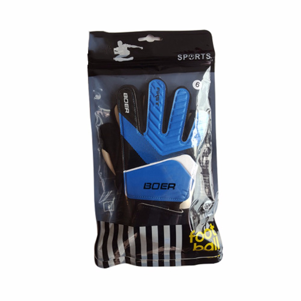 9e3c88125 Kids Football Gloves Boys Thicken Latex Football Goalkeeper Gloves Soccer  Goal Keeper Goalie Training Gloves Size 5 6 7-in Cycling Gloves from Sports  ...