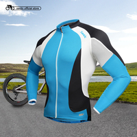 2016 Santic Brand Men Cycling Long Jersey Blue Quick Dry Bike Racing Spring Cycling Clothes Ciclismo