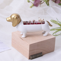 Cute Dog Lovely Ring Display Tray Jewelry Display Holder Ring Display Stand Wood Jewelry Display Block