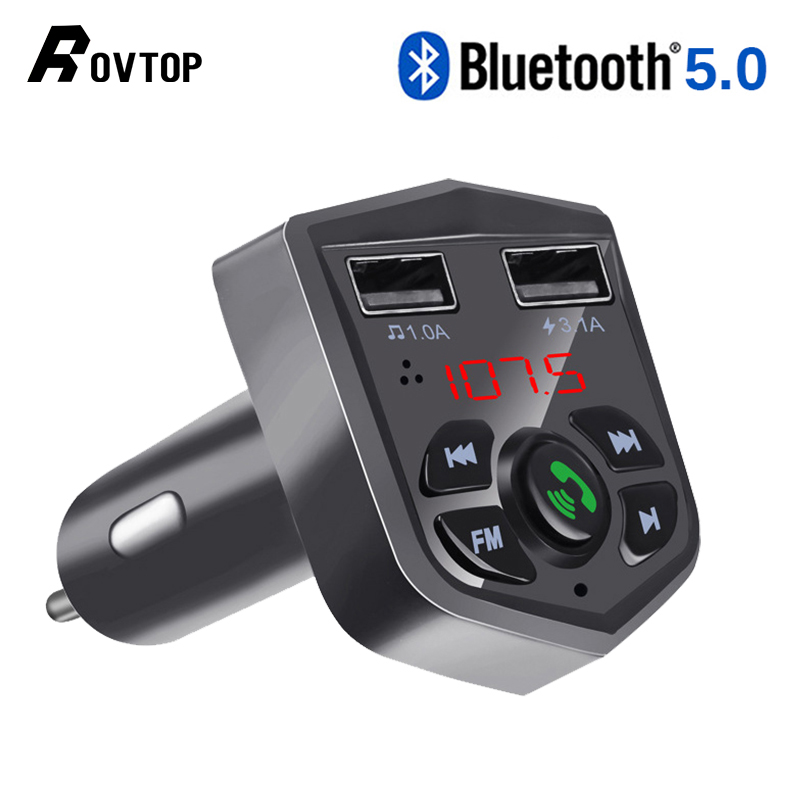 Rovtop Mp3-Player Fm-Transmitter Dual-Usb-Charger Bluetooth Wireless Car Handsfree Car-Kit