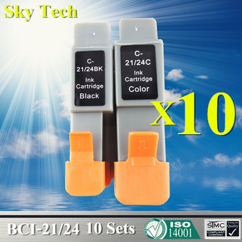20X BCI21/24 BK/C Compatible Ink Cartridge For Canon C21 C24 For Canon iP1000 iP1500 iP2000 MP110 MP130 MP360 MP370 MP390 MPC190 фото
