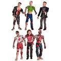 6 ШТ. Walking Dead Зомби Куклы Фигурки Игрушки Статическая Модель Подвижных Соединений.