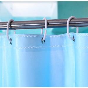 Image 4 - עמיד למים אמבטיה אמבט וילון Peva כחול אוקיינוס טרופי דגי חוף 3d חם עם ווי פלסטיק מתנה
