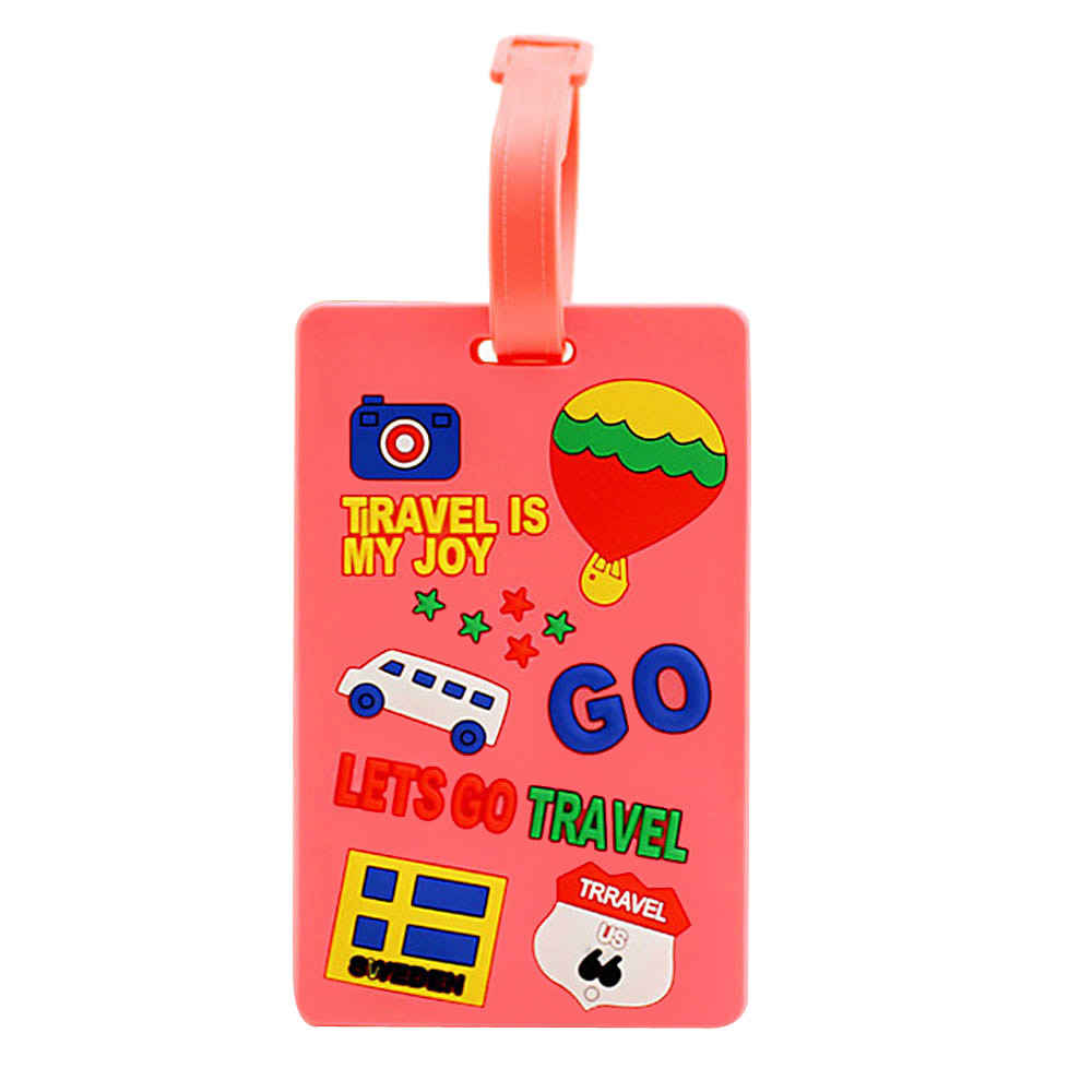 1PC Cute Portable New Arrivals Suitcase Luggage Tags ID Secure Travel Luggage Large Tag Label Make your luggage unique