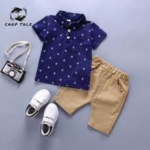 Baby Boy Clothes Summer 2019 Newborn Baby Boy Clothes Set Cotton Baby Clothing (Shirt + Pants) Baby Clothes Set thanksgiving baby boy clothes summer newborn baby boys clothes set cotton baby clothing suit shirt pants plaid infant clothes set