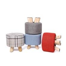 На заказ логотип рекламный табурет печать твердой древесины обувь скамейка ткань диван табурет низкий табурет корпоративные подарки