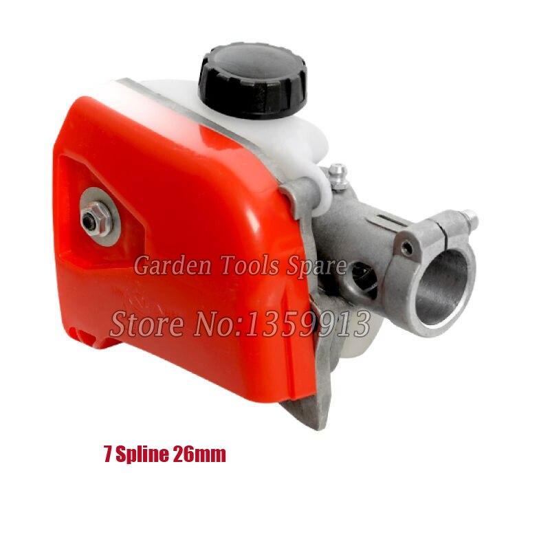 Gear head Gear box 26mm 7 Spline for 4in 1 Strimmer Brush Cutter 28mm 7 spline brush cutter grass trimmer gear head box