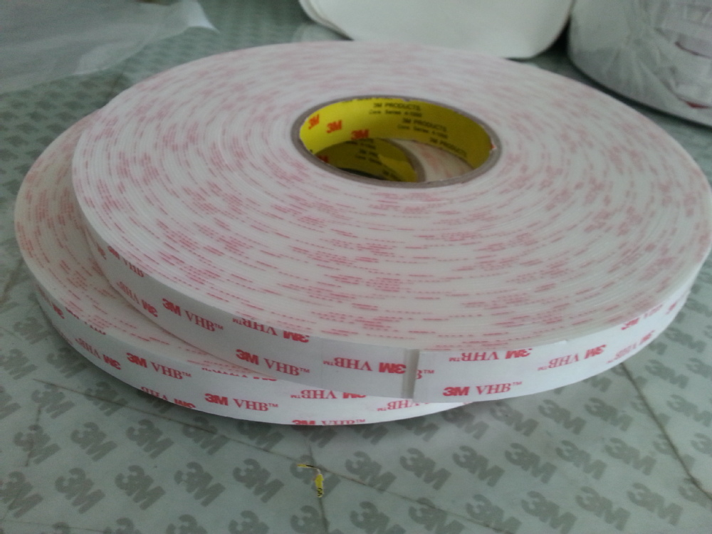 3M 4945 white VHB tape/ 3M double sided white tape with 1.1mm thick, 12.5mmX33M/roll недорго, оригинальная цена