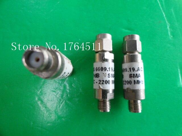 [BELLA] H+S 6609.19.AC DC-3GHz 9dB 2W SMA Coaxial Fixed Attenuator  --5PCS/LOT